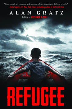illustrated book cover for Refugee