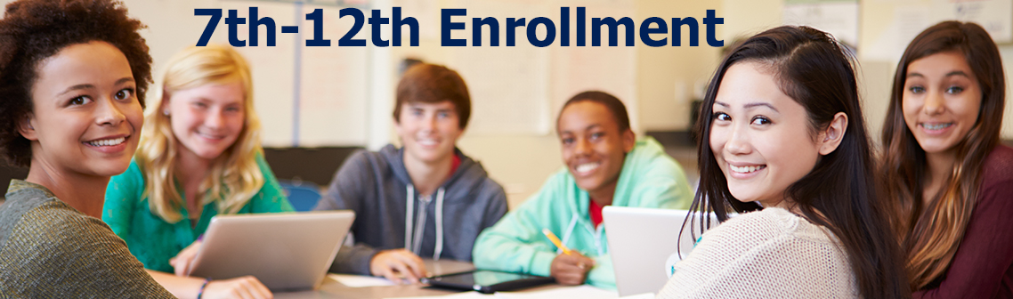 high school students 7th-12-th grade enrollment