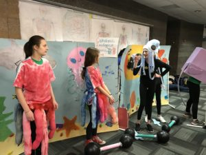 students in sea creature costumes