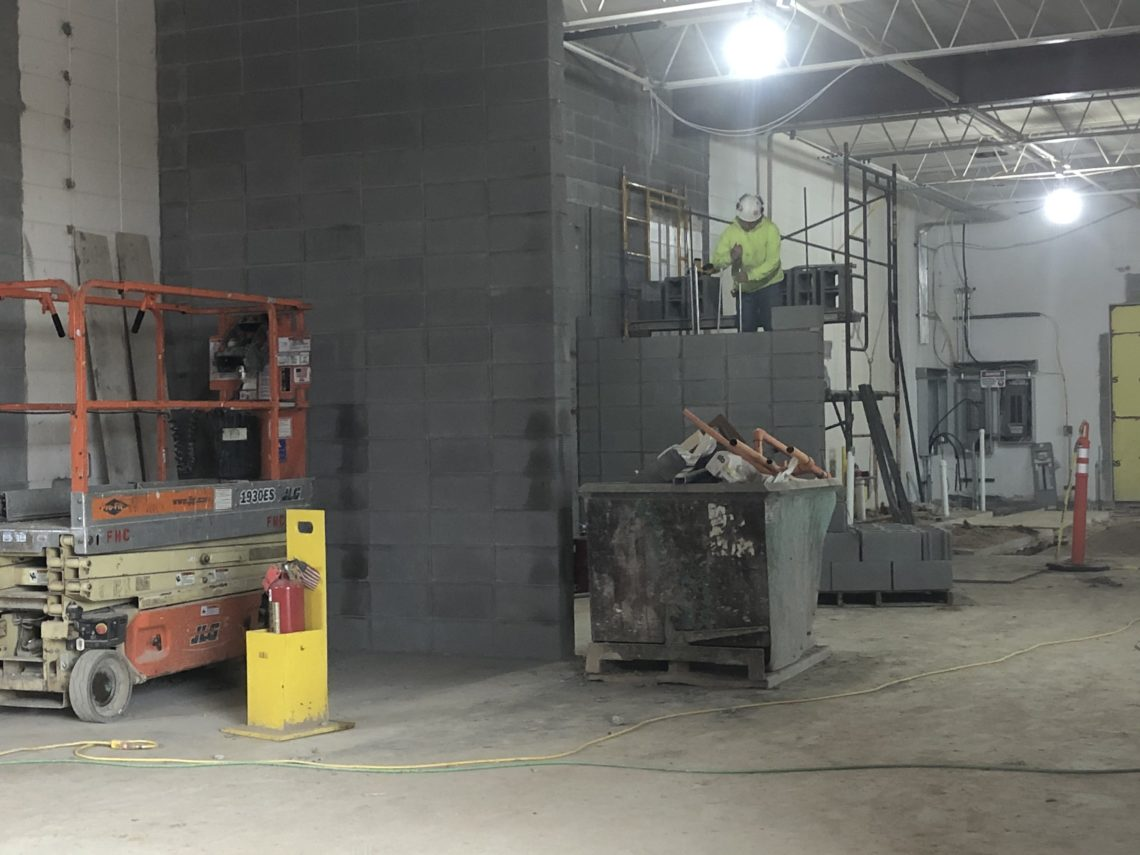 photo of construction underway at Northern High School