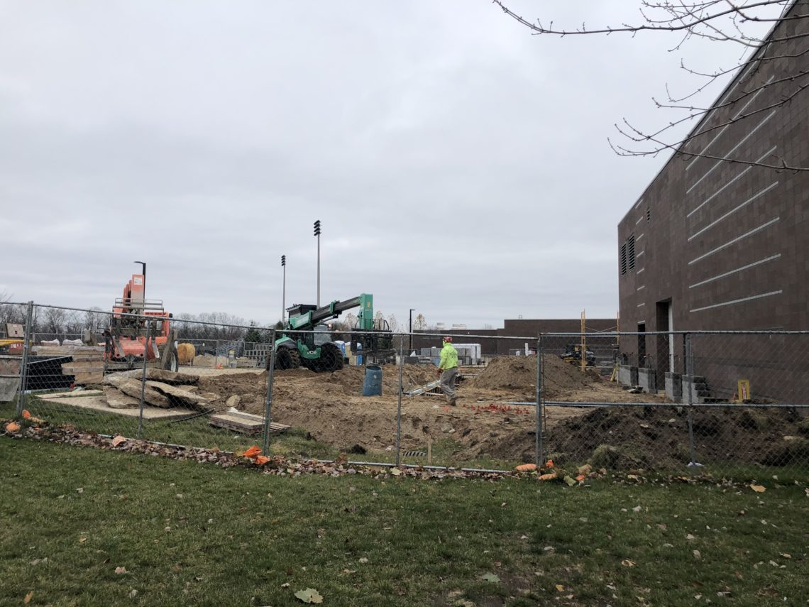 photo of construction underway at Easter Middle School